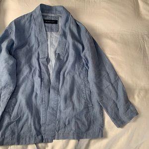 Zara Baby Blue Kimono shirt